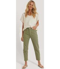 trendyol mom-jeans med hög midja - green