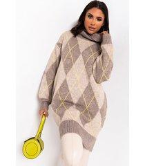 akira cozy turtleneck sweater dress
