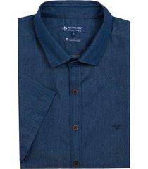 camisa dudalina jeans pala frontal mc essentials masculina (jeans amaciado, 7)