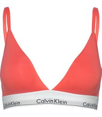 unlined triangle lingerie bras & tops bra without wire orange calvin klein