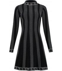 zwart witte dames jurk nikkie - jaz jintha