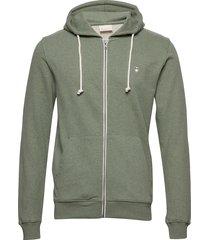 basic hood sweat - gots/vegan hoodie trui groen knowledge cotton apparel