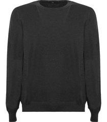 fay black virgin wool sweater