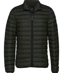 quilted down jacket gevoerd jack groen lindbergh