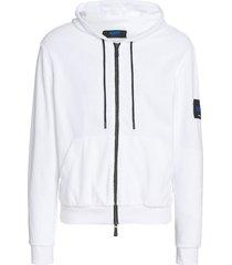 kiton sweater w/hood ls cotton