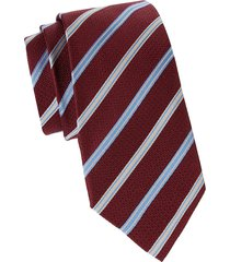 canali men's striped silk tie - red