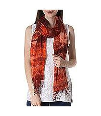 tie-dyed cotton shawl, 'fusion' (india)