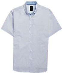 construct white & blue dots short sleeve sport shirt
