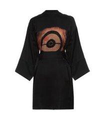 kimono feminino fuji - preto