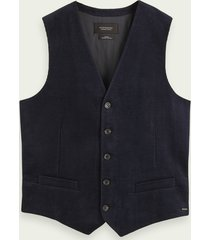 scotch & soda katoenen corduroy gilet
