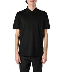 bottega veneta black cotton polo shirt