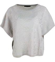 fabiana filippi short-sleeved cashmere hooded sweater