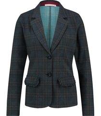 studio anneloes desk tweed check blazer 03587 groen