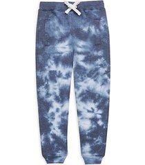 little girl's tie-dyed cotton-blend jogger pants