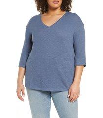 plus size women's caslon dolman sleeve cotton top