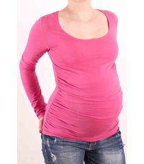 trendy long maternity knit tunic top, scoop neck, 7 fabulous color choices, eu