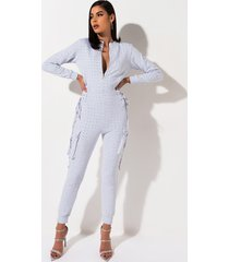 akira kanga rhinestone lace up side sweatshirt jumpsuit