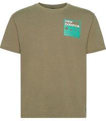 athletics trail stamp t-shirt t-shirts short-sleeved grön new balance