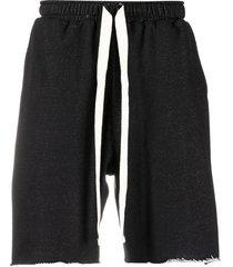 alchemy drawstring track shorts - black