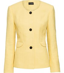 blazer corto in tweed (giallo) - bodyflirt