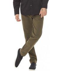 pantalon bolsillos slim verde corona