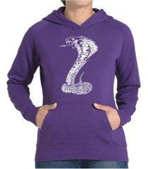 la pop art women's word art hooded sweatshirt -tyles of snakes