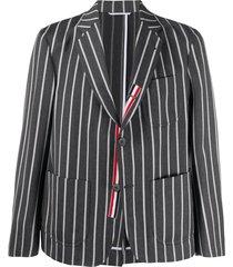 thom browne vertical-stripe sports blazer - grey