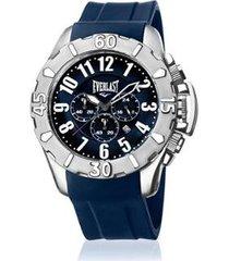relógio everlast e2541 48mm silicone masculino