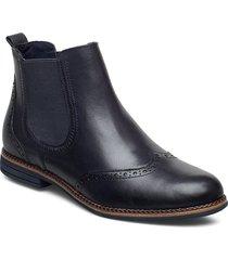 woms boots stövletter chelsea boot blå tamaris