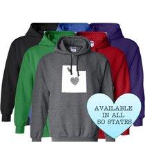 utah hoodie sweatshirt love home heart unisex men women state
