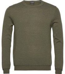 sweaters stickad tröja m. rund krage grön esprit collection