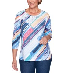alfred dunner road trip studded textured top
