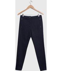 pantalón ash gabardina azul - calce ajustado