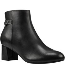 bandolino masie women's block heel bootie women's shoes