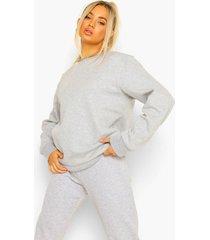 basic sweater, grey marl