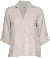 marseille linen blouse blouses short-sleeved crème morris lady