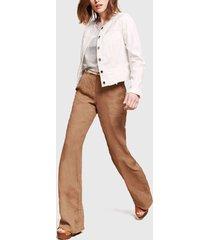 pantalón lino italiano canela