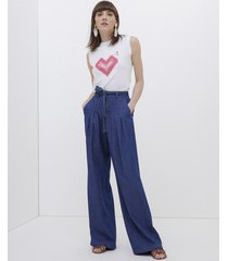 jeans palazzo in chambray