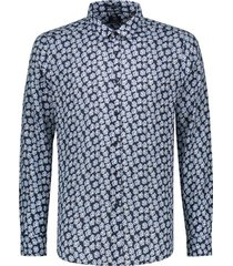 dstrezzed overhemd donkerblauw motief