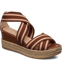 kadur_can sandalette med klack espadrilles brun unisa