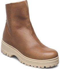 ankle boot shoes boots ankle boots ankle boot - flat brun ilse jacobsen
