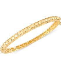 effy oro by effy bead-pattern bangle bracelet in 14k gold