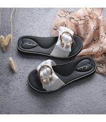 zapatillas de mujer de verano pvc flores c word bow sandalias para