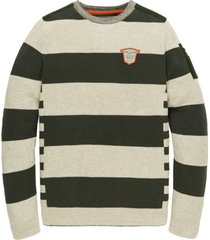pme legend pkw205303 6026 stripe knit urban chic trui legend