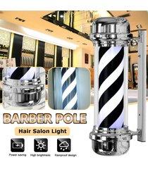 60 / 70cm de ee.uu. plug peluquería salón grande de pelo de luz led polo negro azul blanco rayas giratoria sesión - 70cm estándar de 110v de ee.uu.