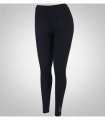 calça térmica segunda pele nord outdoor basic - feminina - preto