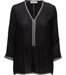 blouse 3/4 s blouse lange mouwen zwart rosemunde