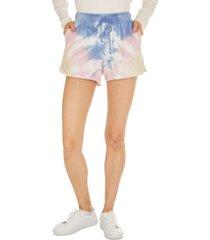 hippie rose juniors' tie-dye sweat shorts