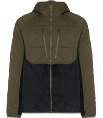 burton ak jaqueta cavu hybrid verde com capuz