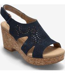 giselle bay sandalette med klack espadrilles blå clarks
